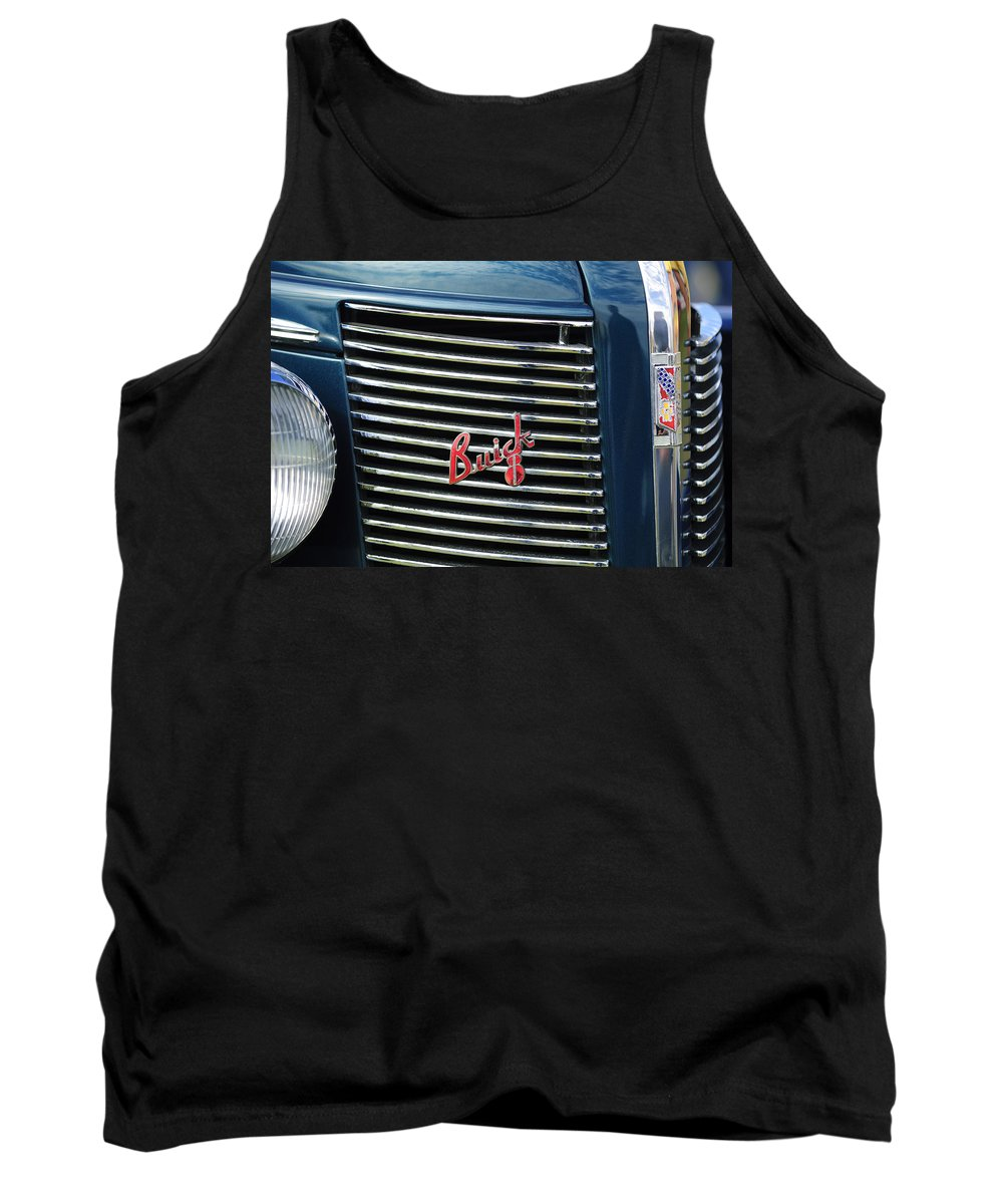 1937 Buick Tank Top featuring the photograph 1937 Buick Grille Emblem by Jill Reger