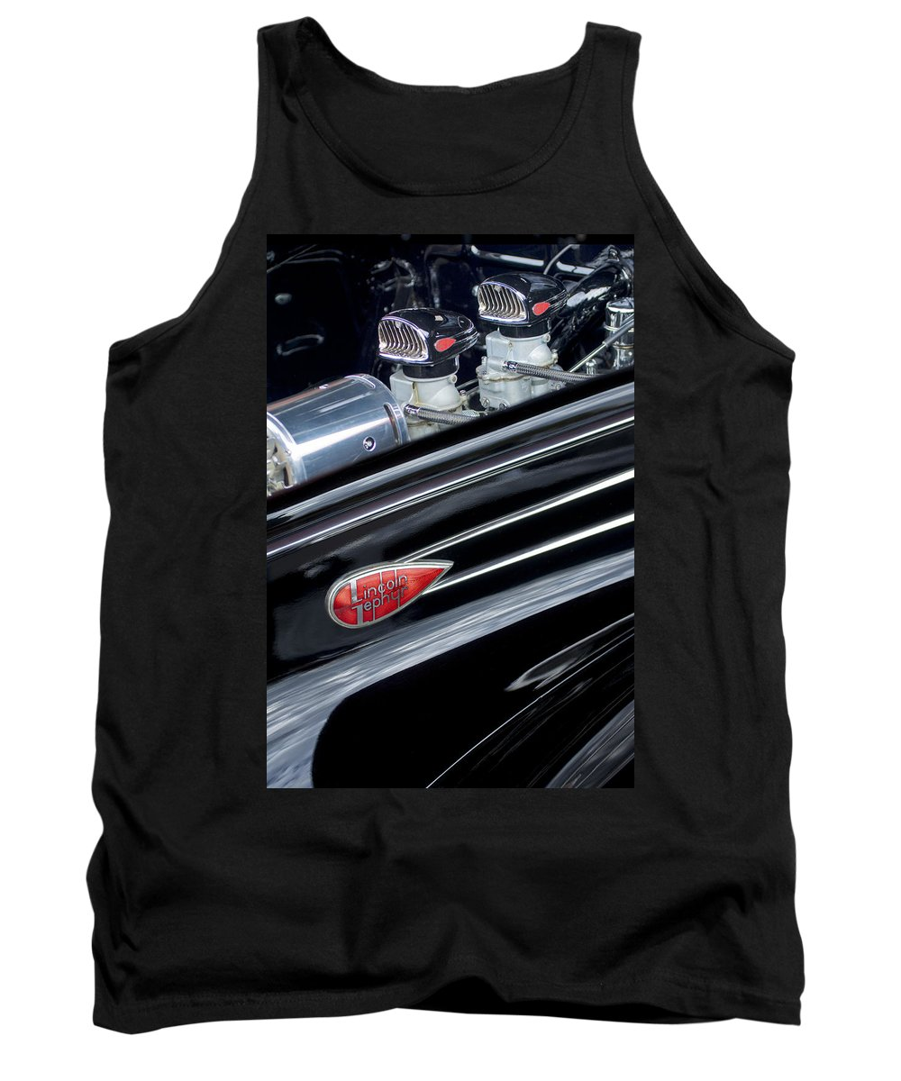 1939 Lincoln Zephyr Tank Top featuring the photograph 1939 Lincoln Zephyr Engine by Jill Reger