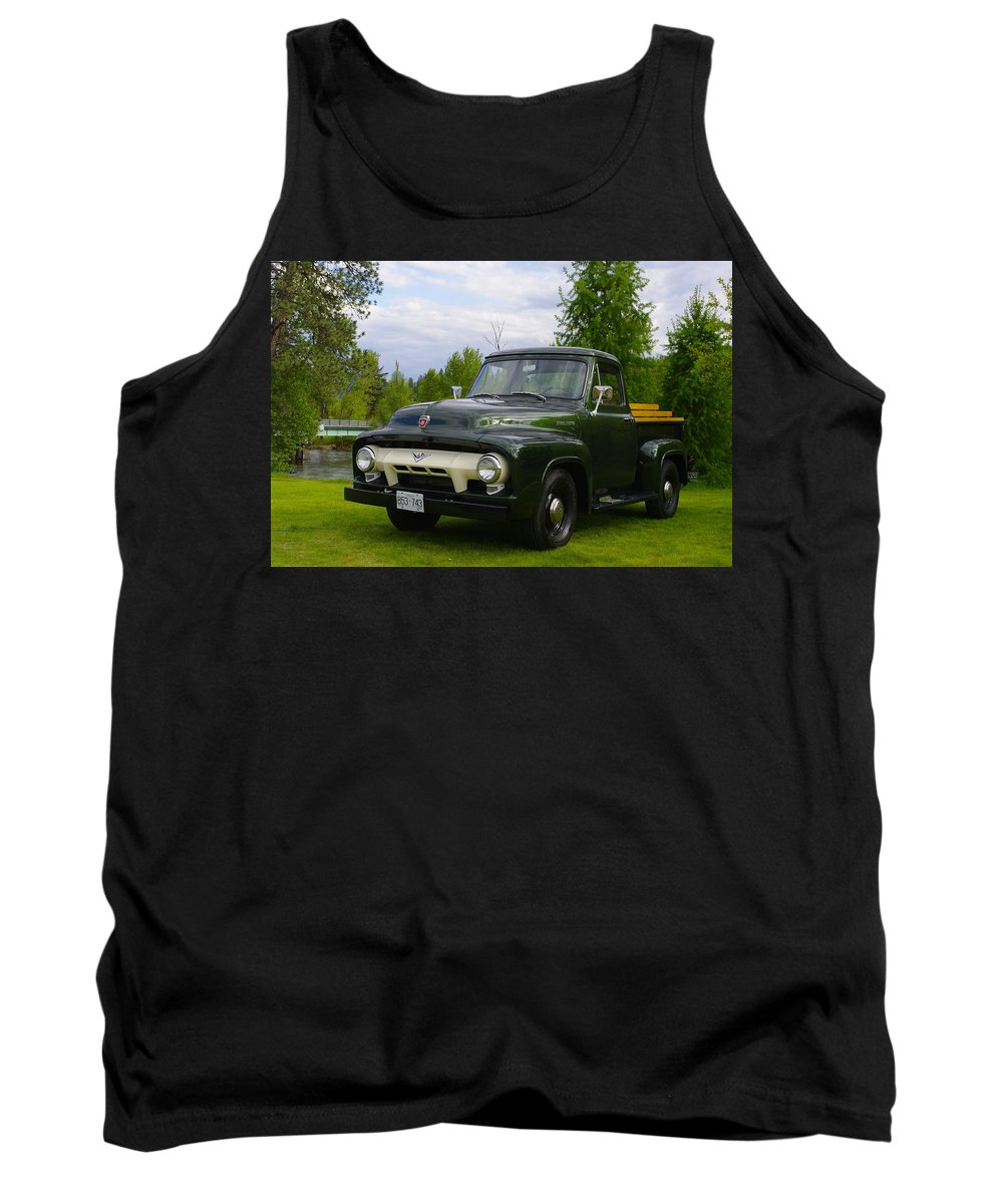 Truck Tank Top featuring the photograph 1953 Ford F-100 by John Greaves