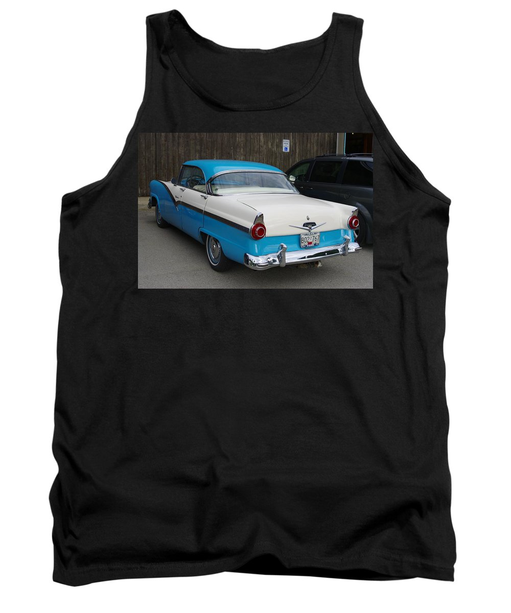 1956 Ford Fairlane Tank Top featuring the photograph 1956 Ford Fairlane by John Greaves