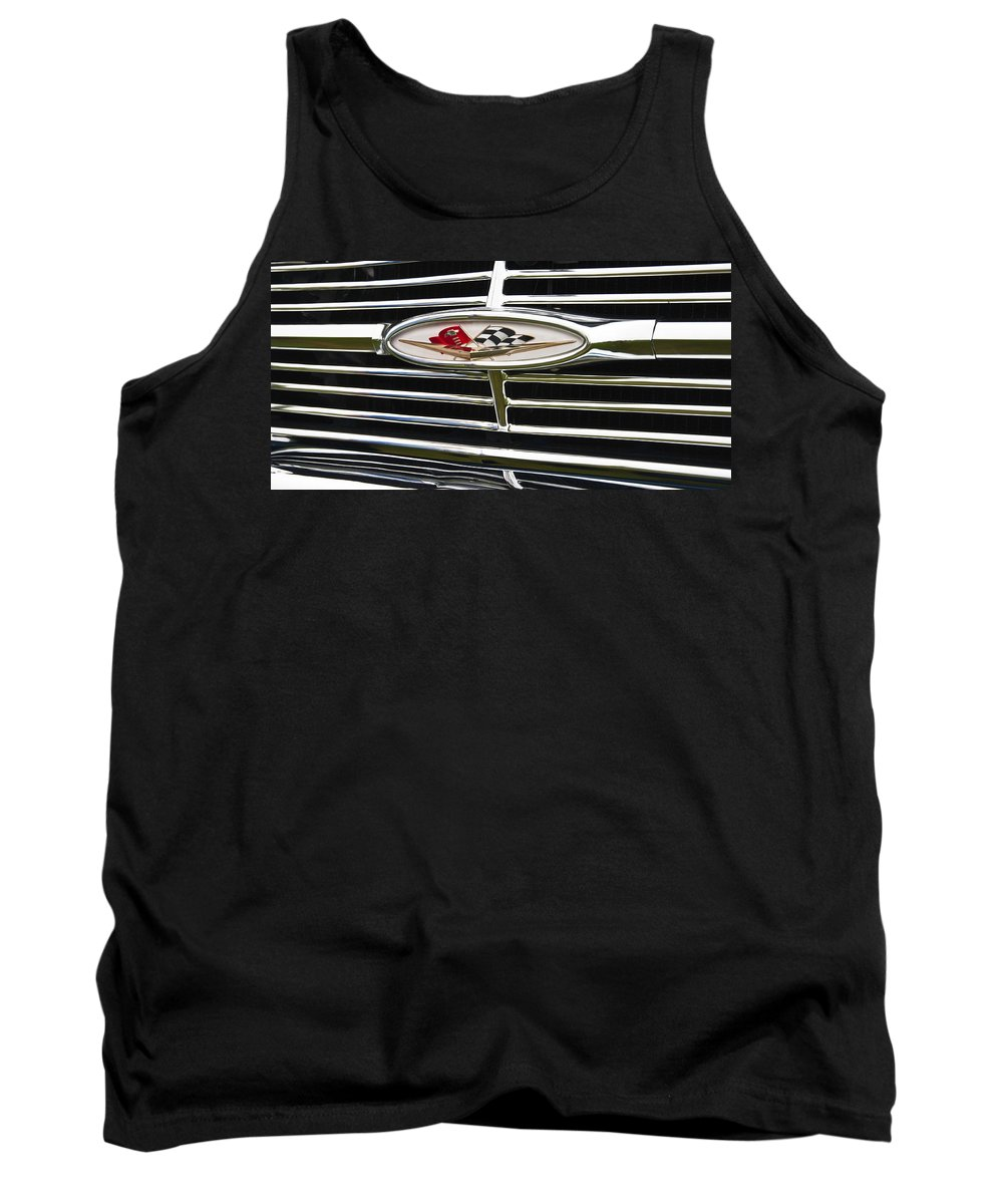 1960 Chevrolet Impala Emblem Tank Top featuring the photograph 1960 Chevrolet Impala Emblem by Glenn Gordon