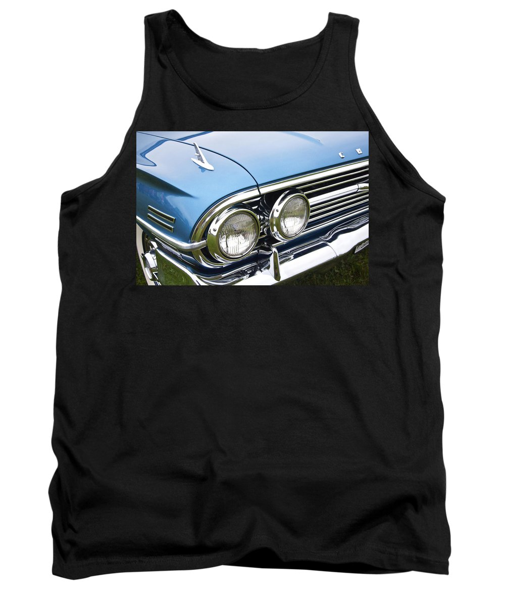 1960 Tank Top featuring the photograph 1960 Chevrolet Impala Front End by Glenn Gordon