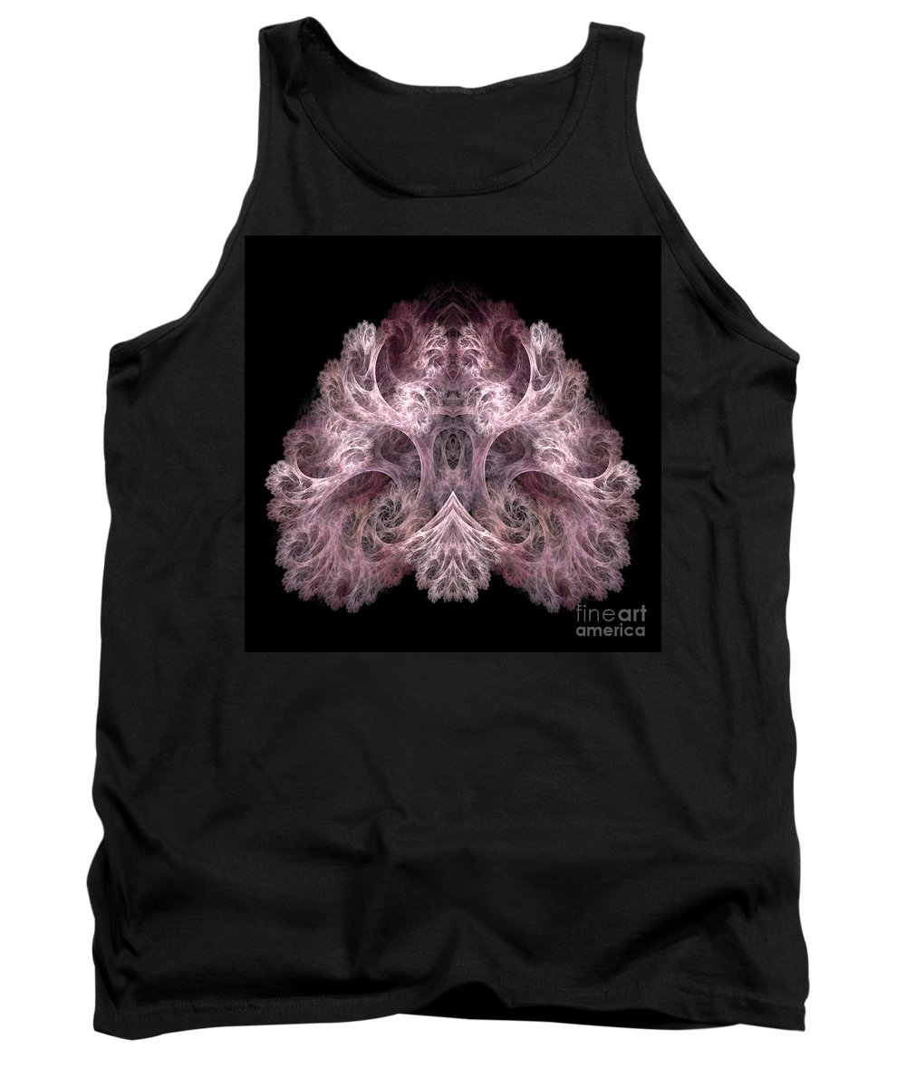 Fractal Digital Art Tank Top featuring the photograph Abstract 190 by Mike Nellums