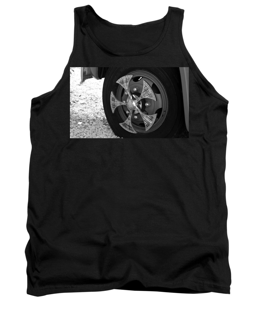 Tires Tank Top featuring the photograph Fire Truck Spinner by Rob Hans