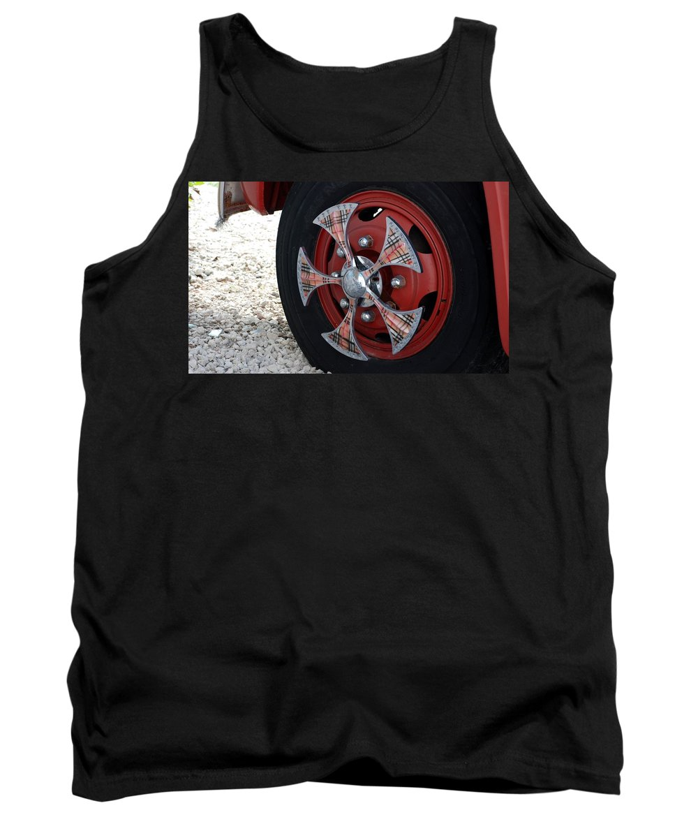 Tires Tank Top featuring the photograph Fire Truck Spinners by Rob Hans