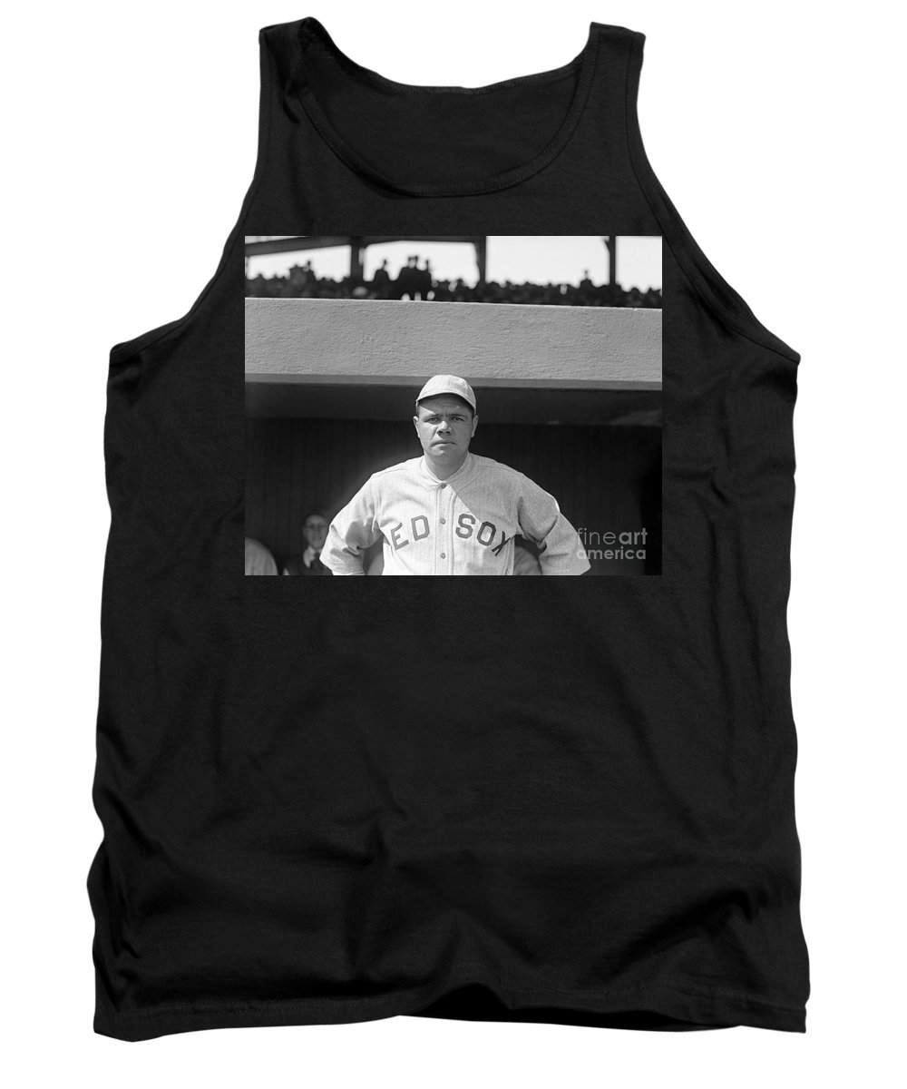 1919 Tank Top featuring the photograph George H. Ruth (1895-1948) by Granger