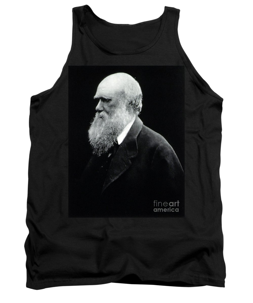 History Tank Top featuring the photograph Charles Robert Darwin, English by Science Source