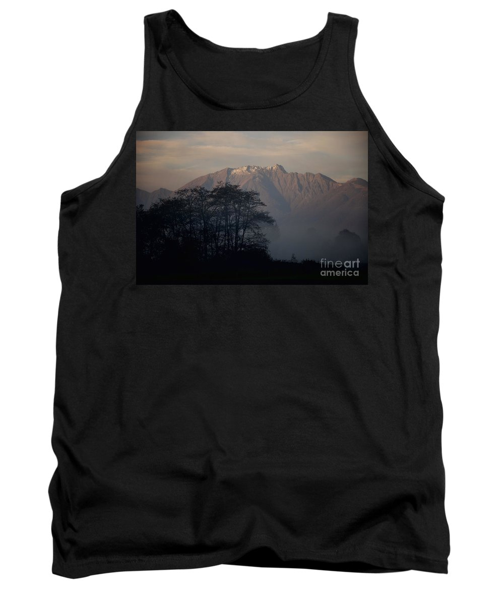 Trees Tank Top featuring the photograph Snow-capped Mountain by Mats Silvan