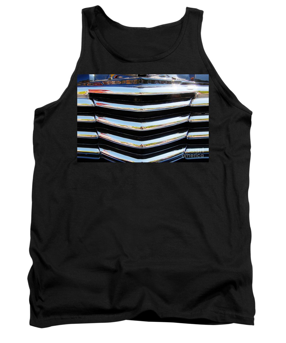 Chevy Tank Top featuring the photograph 48 Chevy Convertible Grill by Anthony Wilkening