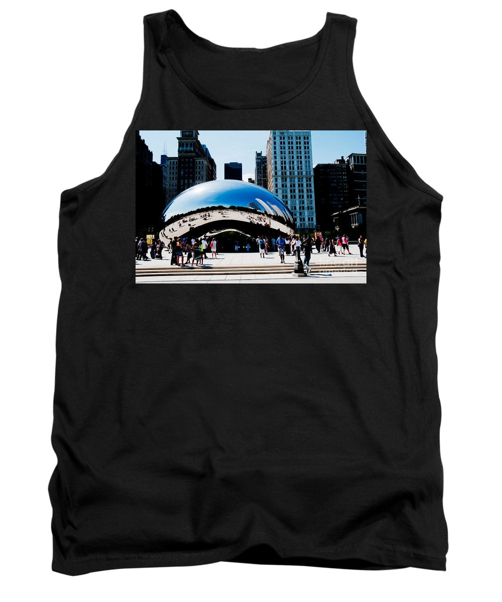 Artistic Sculpture Tank Top featuring the digital art Chicago City Scenes by Carol Ailles