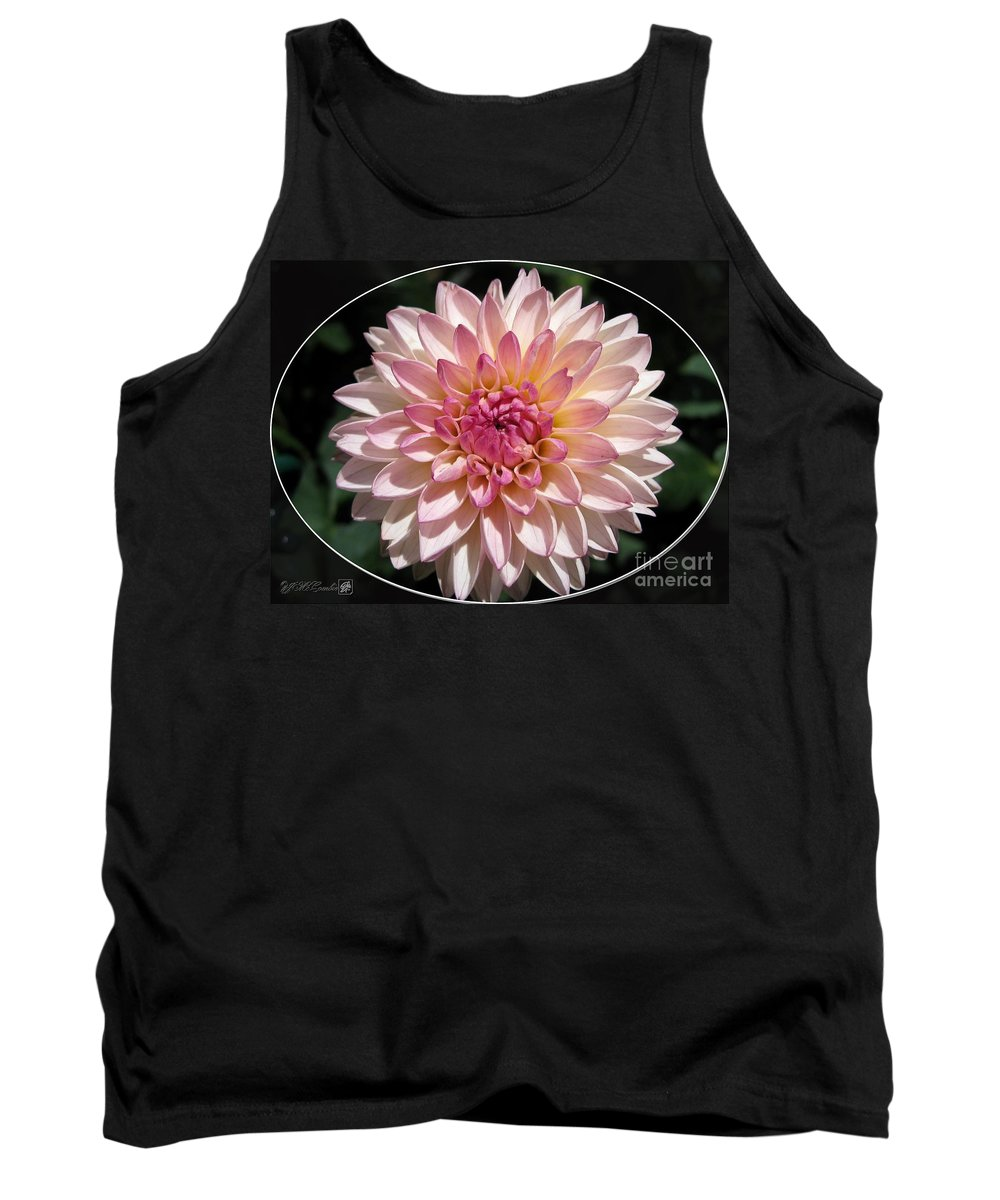 Mccombie Tank Top featuring the photograph Dahlia Named Valley Porcupine by J McCombie