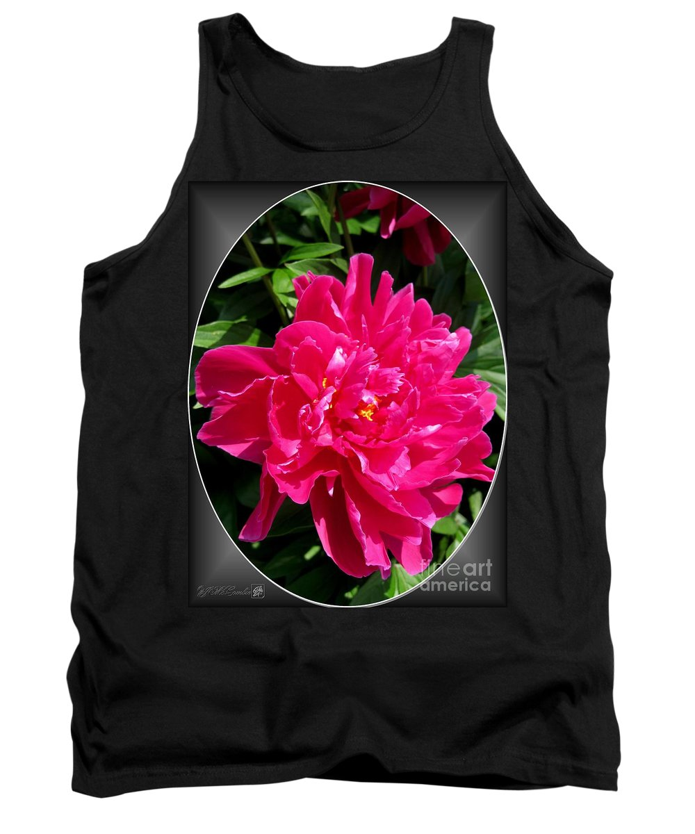 Peony Tank Top featuring the photograph Peony Named Karl Rosenfield by J McCombie