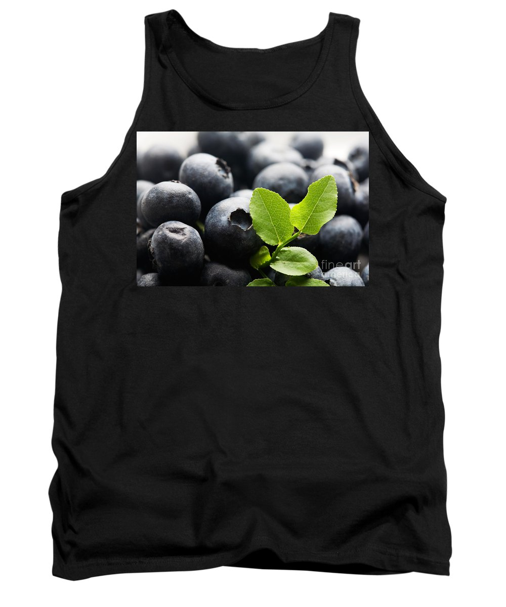 Blueberry Tank Top featuring the photograph Blueberries by Kati Finell