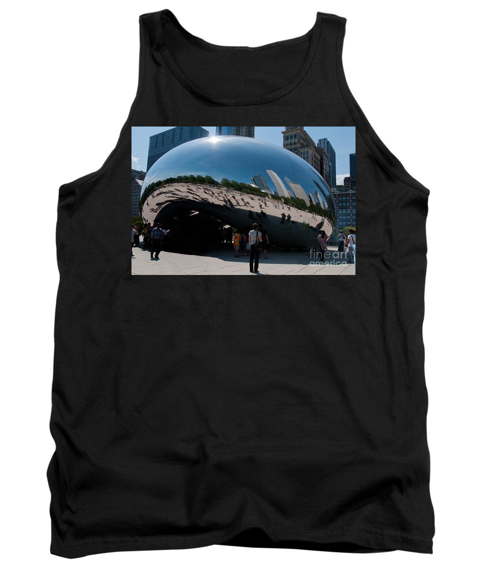 Artistic Sculpture Tank Top featuring the photograph Chicago City Scenes by Carol Ailles