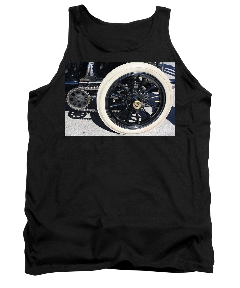 Cars - Classic Antique Car - Detail Tank Top featuring the photograph Classic Antique Car- Detail by Dora Sofia Caputo Photographic Design and Fine Art