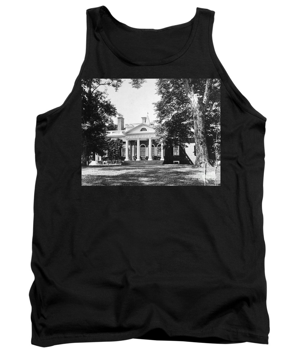 18th Century Tank Top featuring the photograph Jefferson: Monticello by Granger