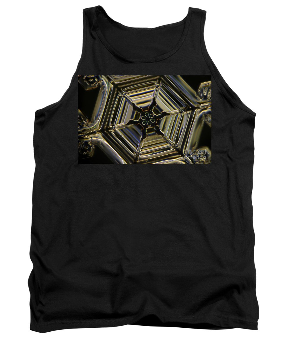 Snow Tank Top featuring the photograph Snowflake by Ted Kinsman