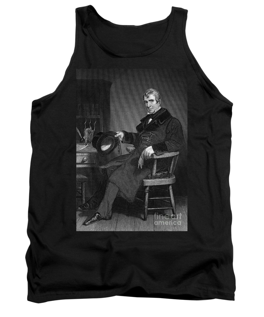 19th Century Tank Top featuring the photograph William Henry Harrison by Granger