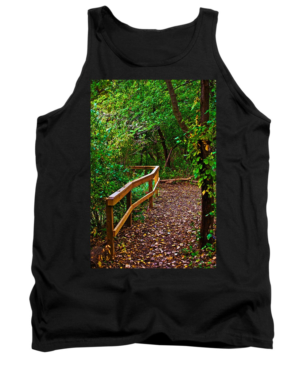Fall Tank Top featuring the photograph A Fall Walk by Edward Peterson