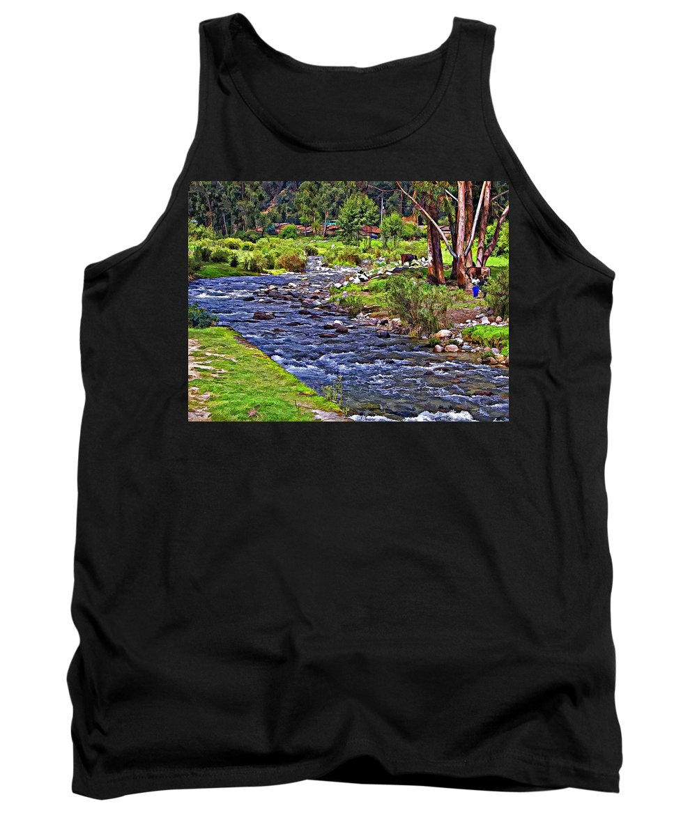 Peru Tank Top featuring the photograph A Place Without Time by Steve Harrington