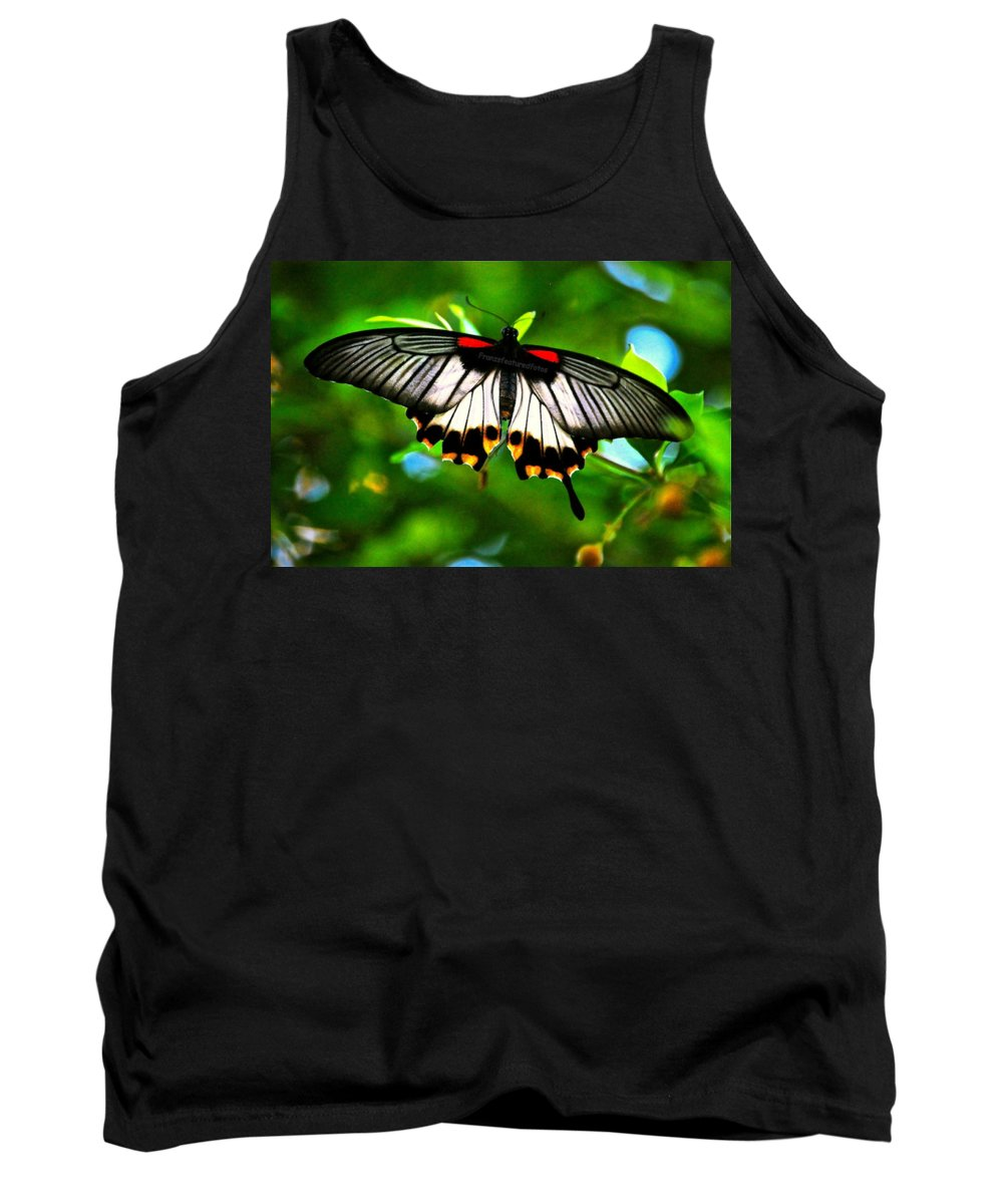 Nature Tank Top featuring the photograph A Real Beauty Butterfly by Peggy Franz