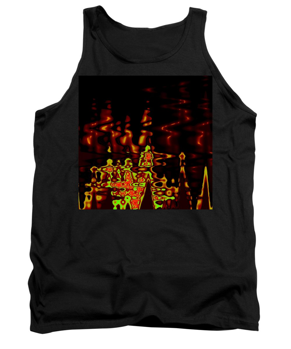 Tank Top featuring the digital art Abstract Fractals 2 by Steve K