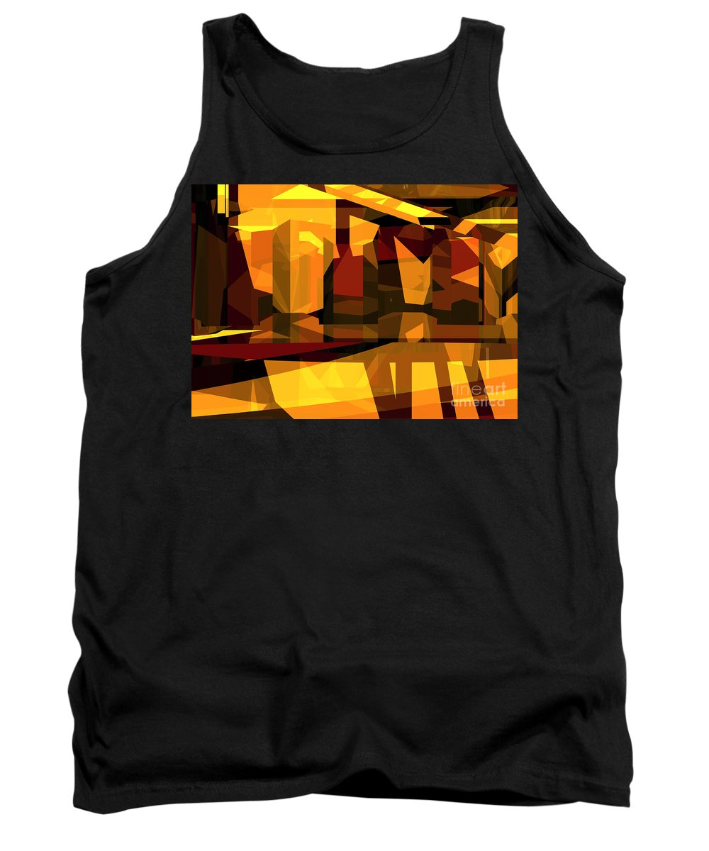 Abstract Tank Top featuring the digital art Abstract Sin 27 by Russell Kightley