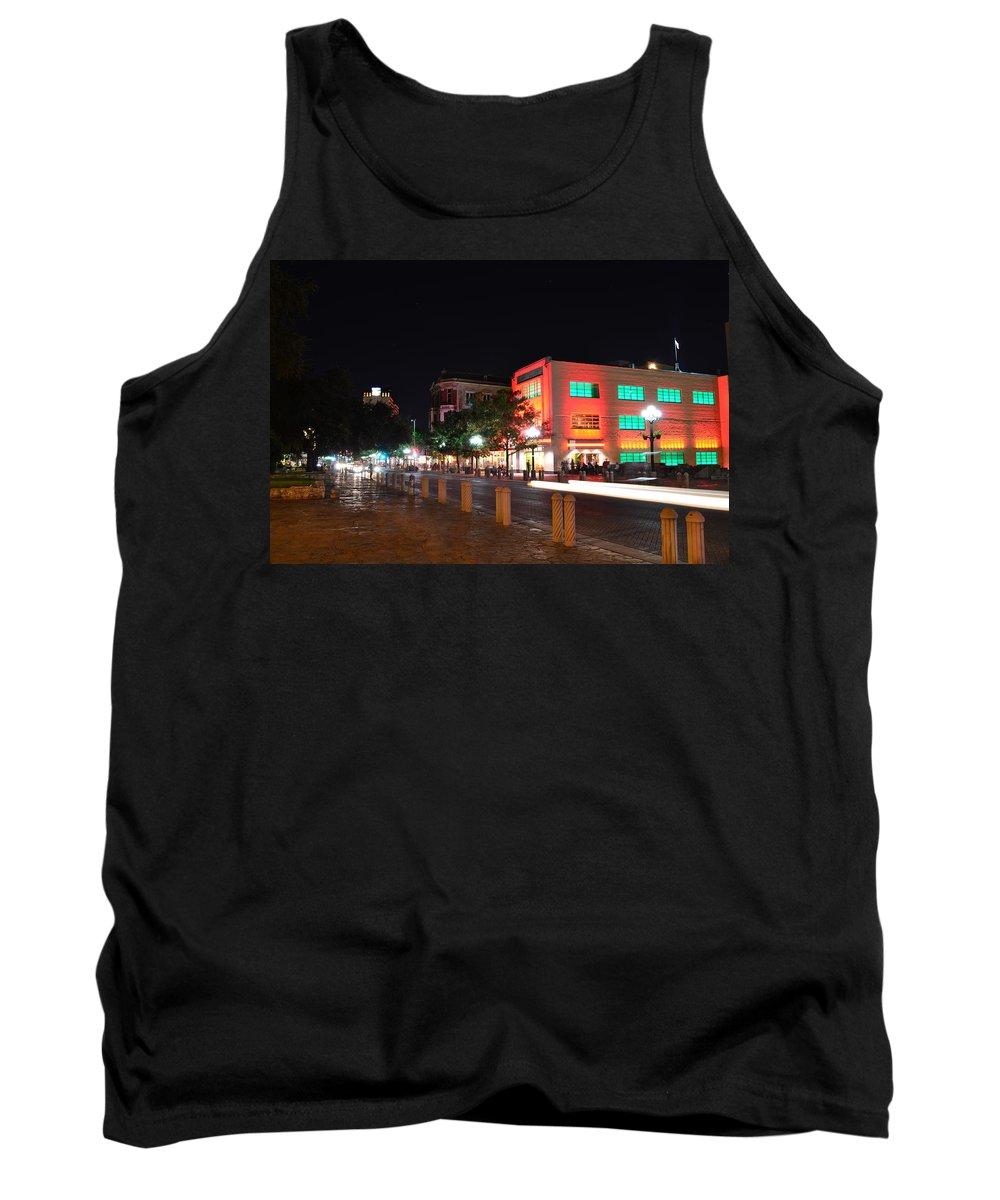 San Antonio Tank Top featuring the photograph Alamo Plaza by David Morefield