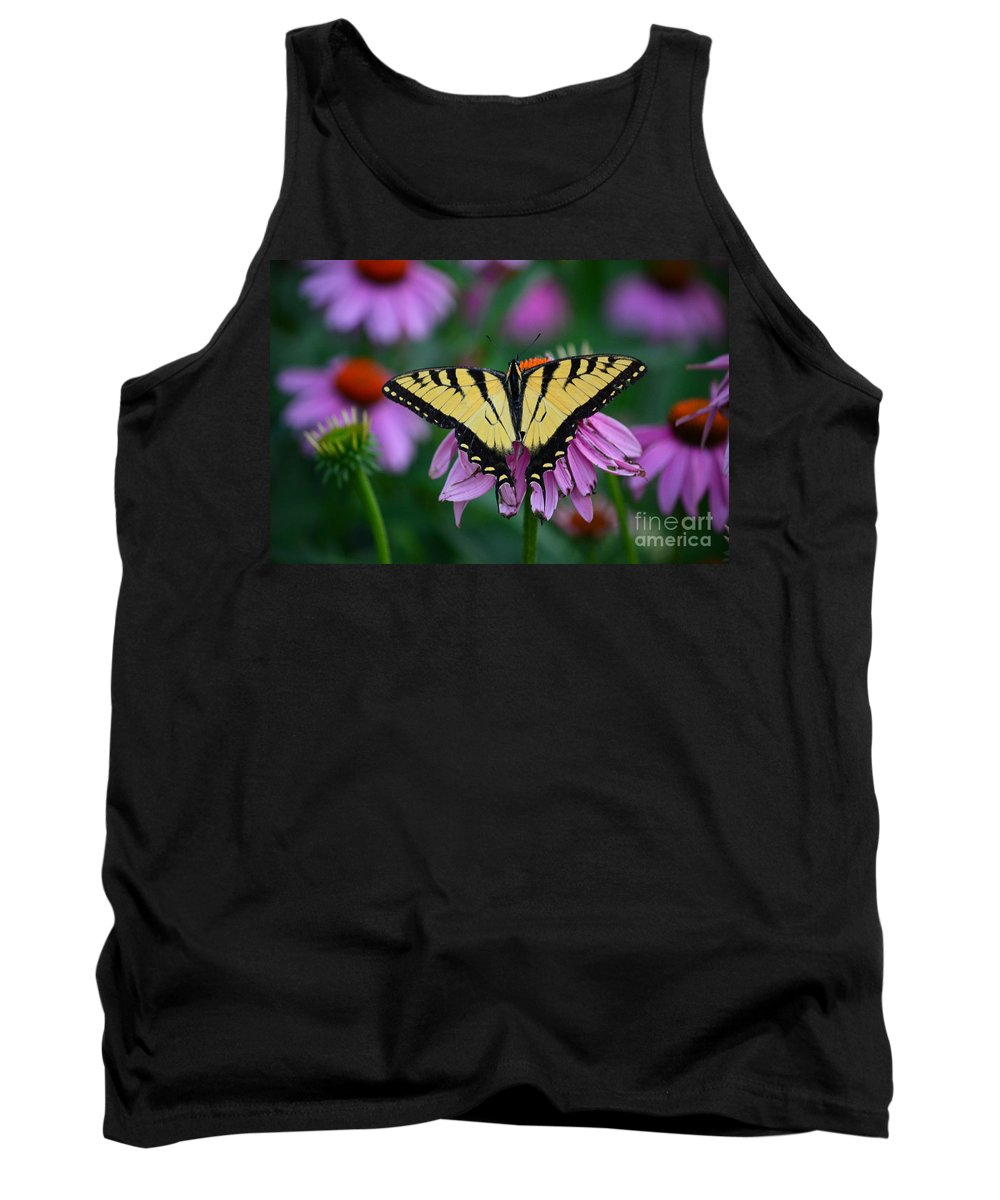 Color Photography Tank Top featuring the photograph All Fanned Out by Sue Stefanowicz