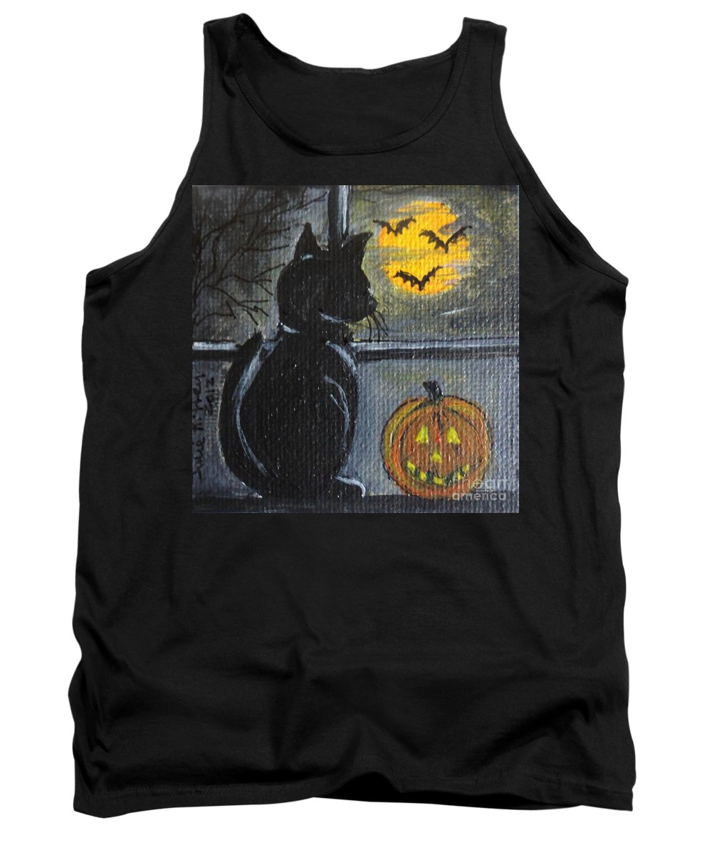Halloween Tank Top featuring the painting Almost Midnight by Julie Brugh Riffey