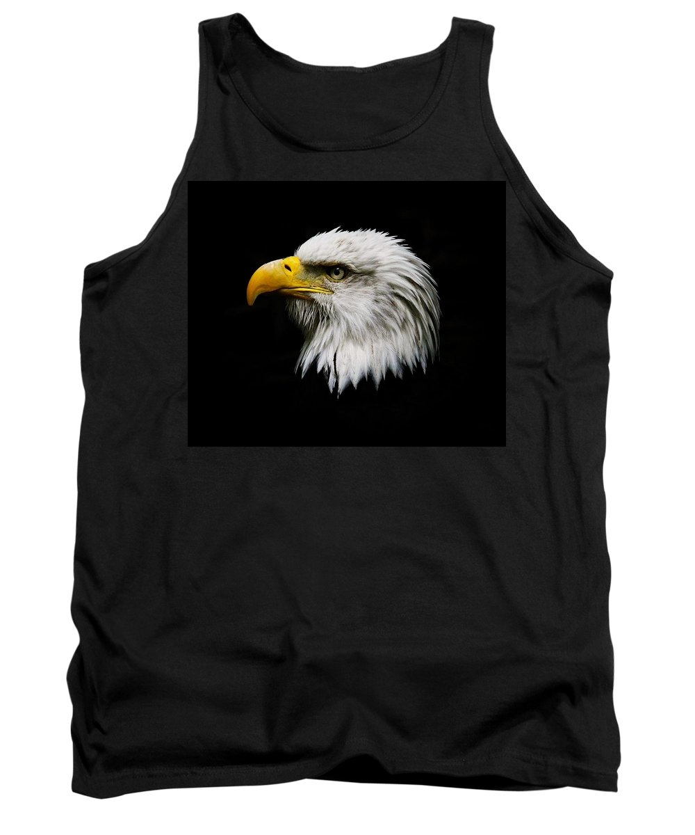 Bald Eagle Tank Top featuring the photograph American Eagle by Steve McKinzie