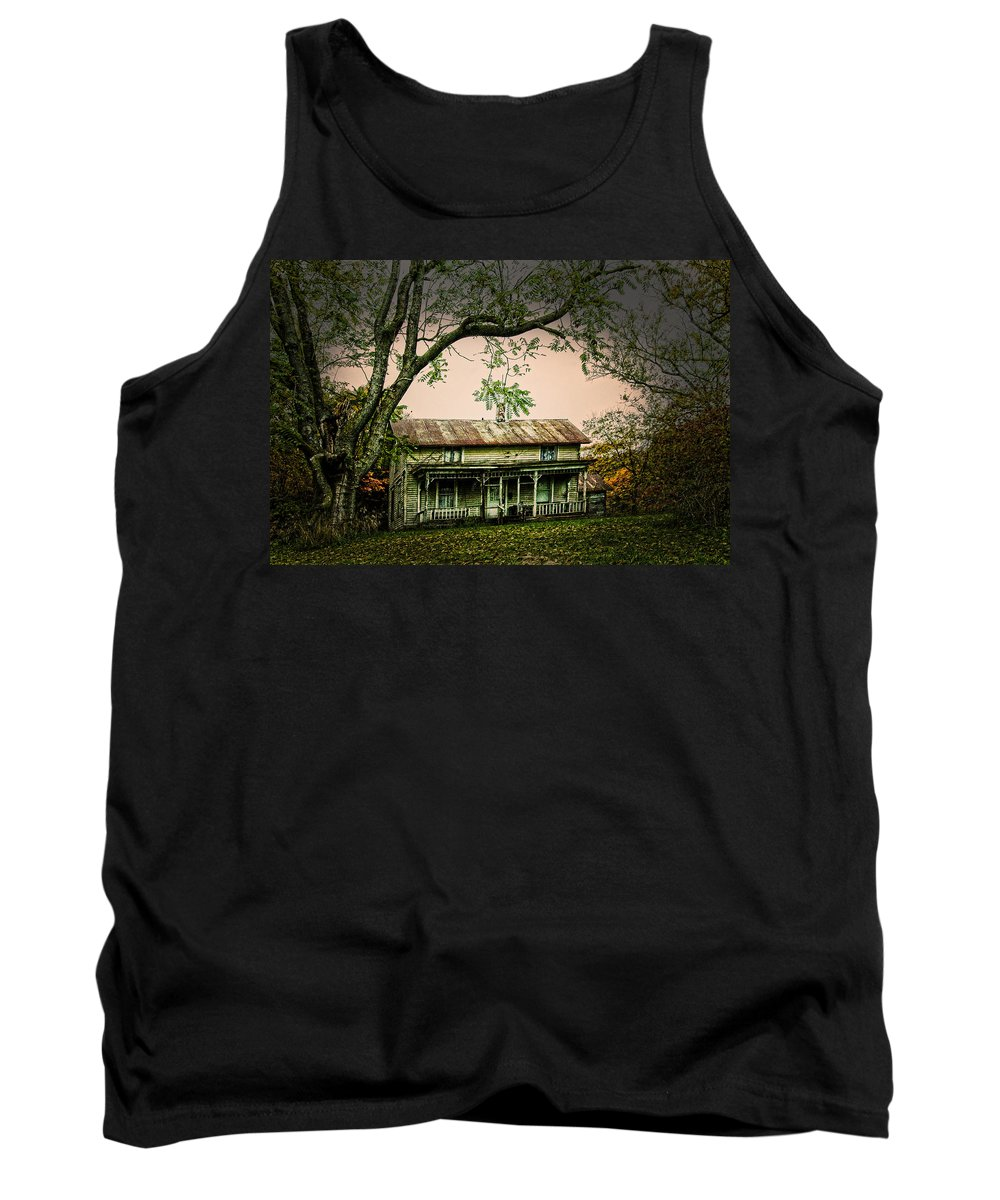 Home Place Tank Top featuring the photograph An Old Home Place by Randall Branham