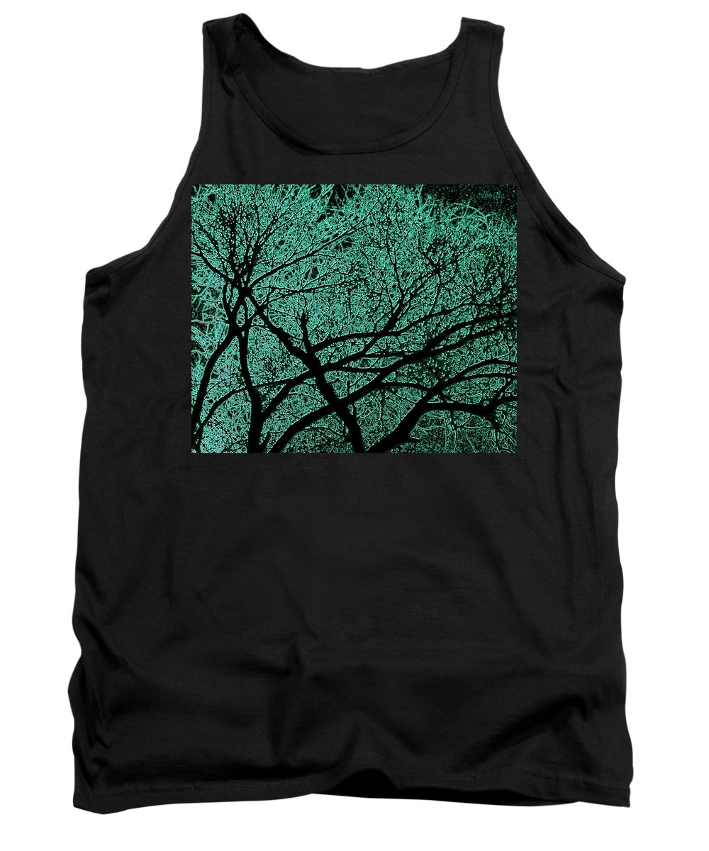 Trees Tank Top featuring the photograph Aqua Scrub by Chris Berry