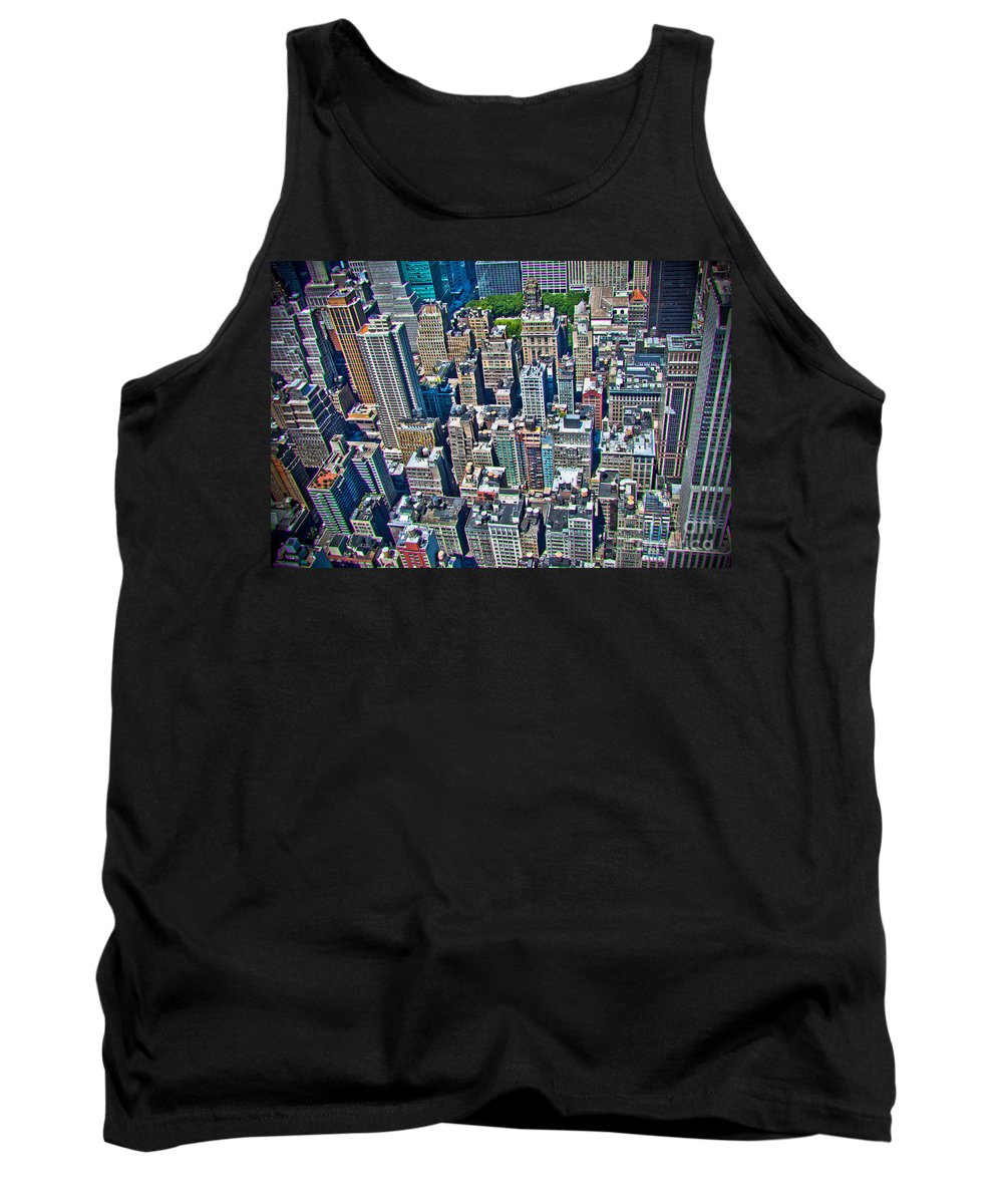 Nyc Tank Top featuring the photograph Art Deco New York City by Ken Marsh