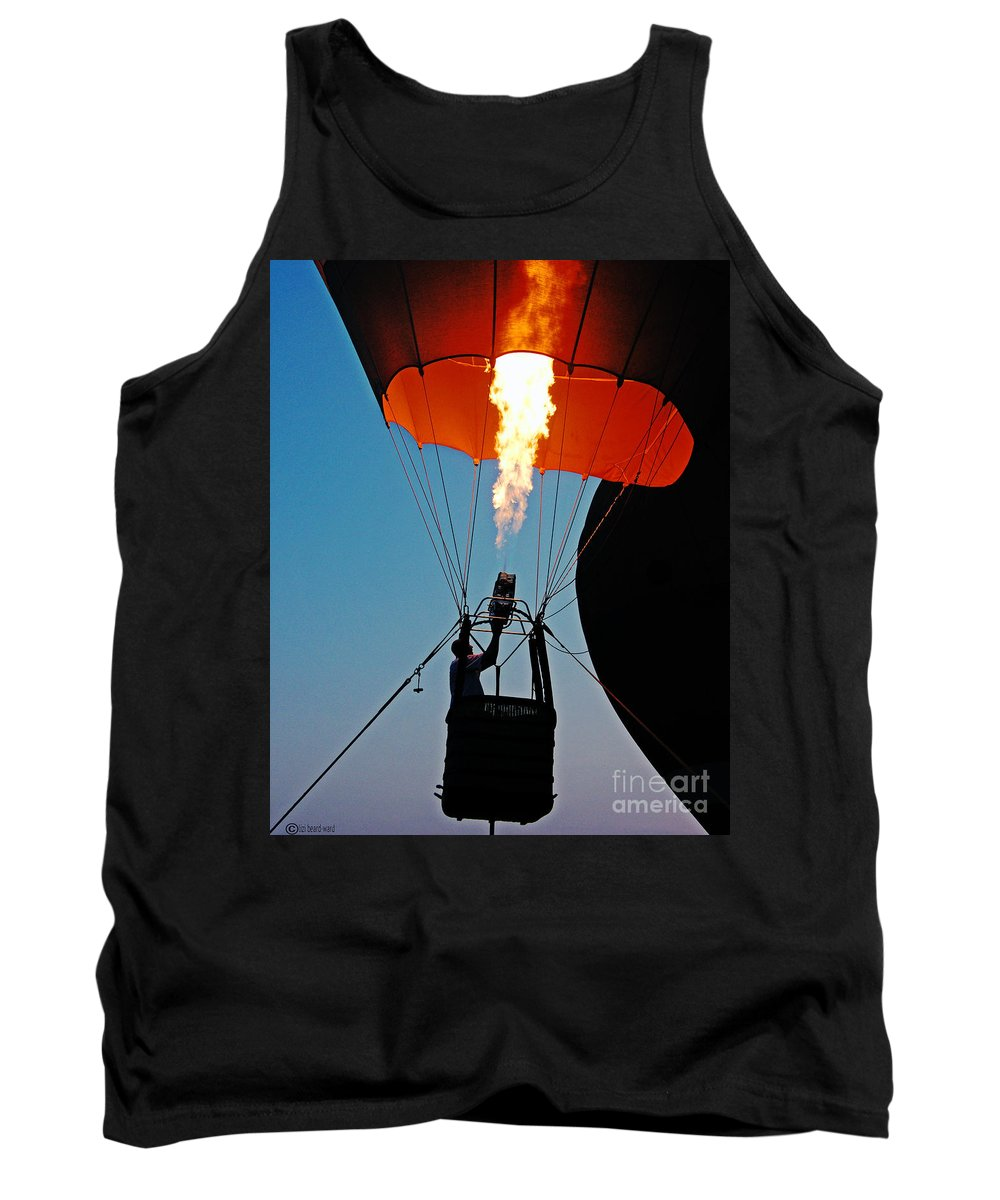 Balloon Tank Top featuring the photograph Ascension Flames by Lizi Beard-Ward
