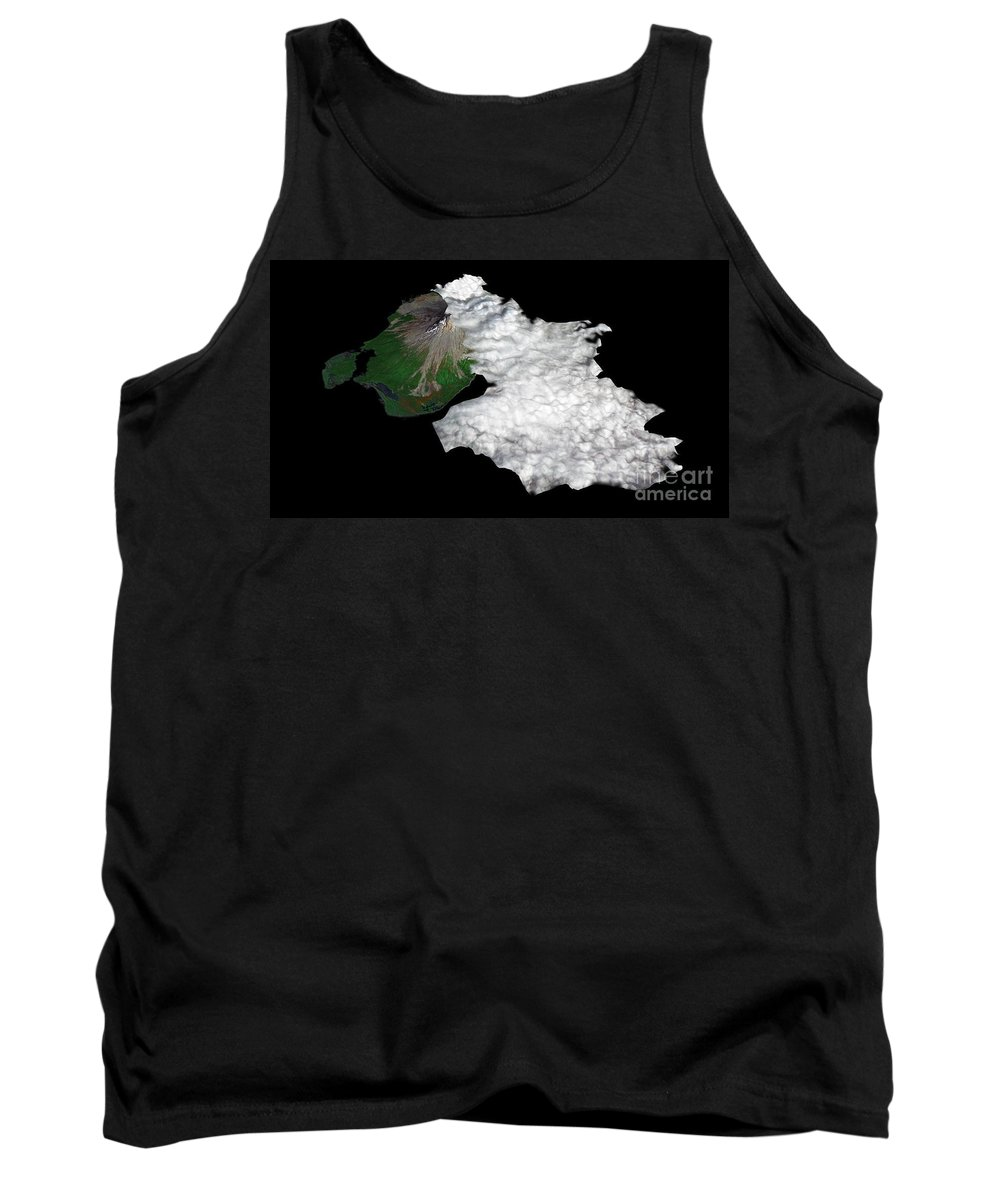 Augustine Volcano Tank Top featuring the photograph Augustine Volcano, Alaska by Nasa