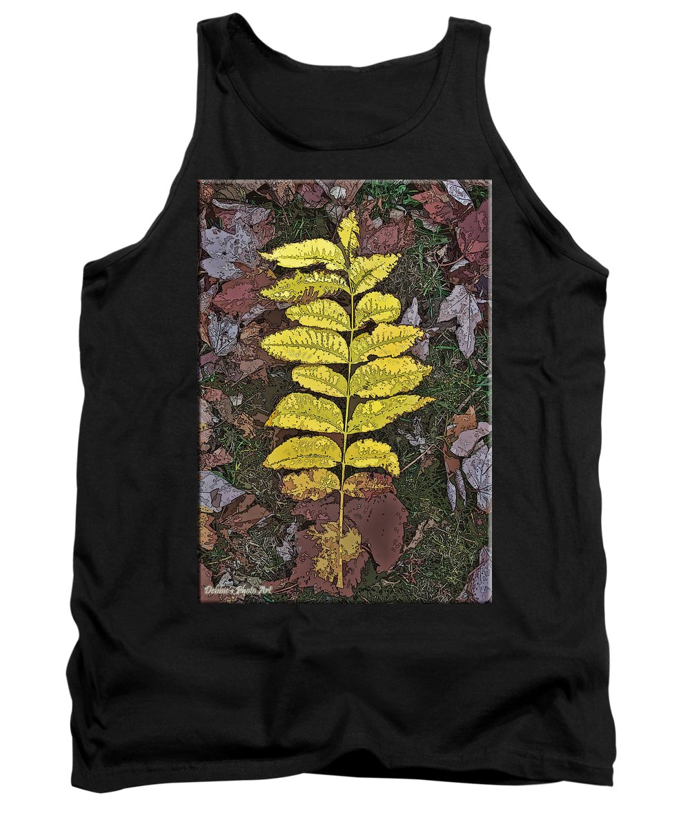 Nature Tank Top featuring the photograph Autumn Leaf Art I by Debbie Portwood