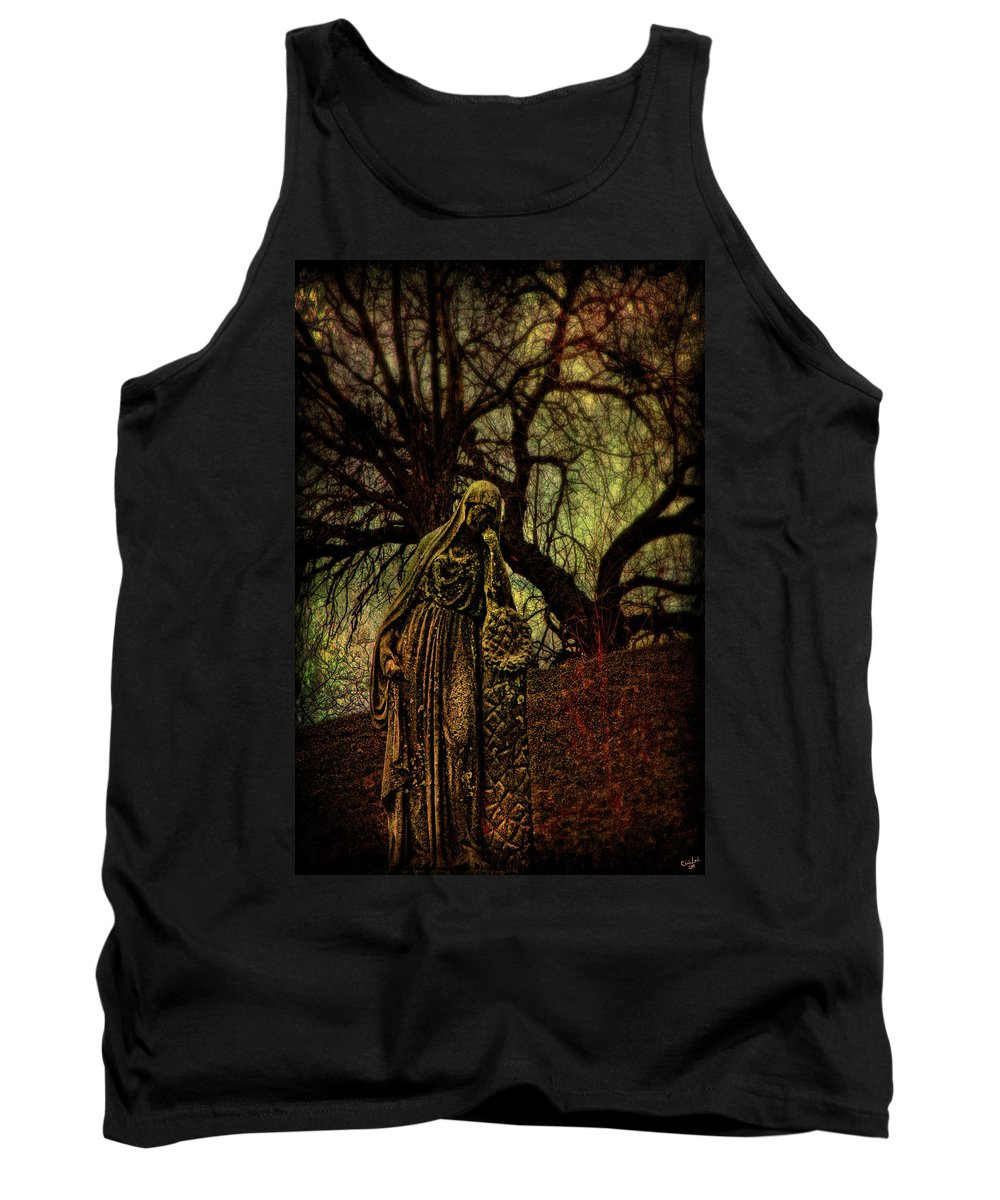 Cemetery Tank Top featuring the photograph Ave Maria Full Of Sorrows by Chris Lord