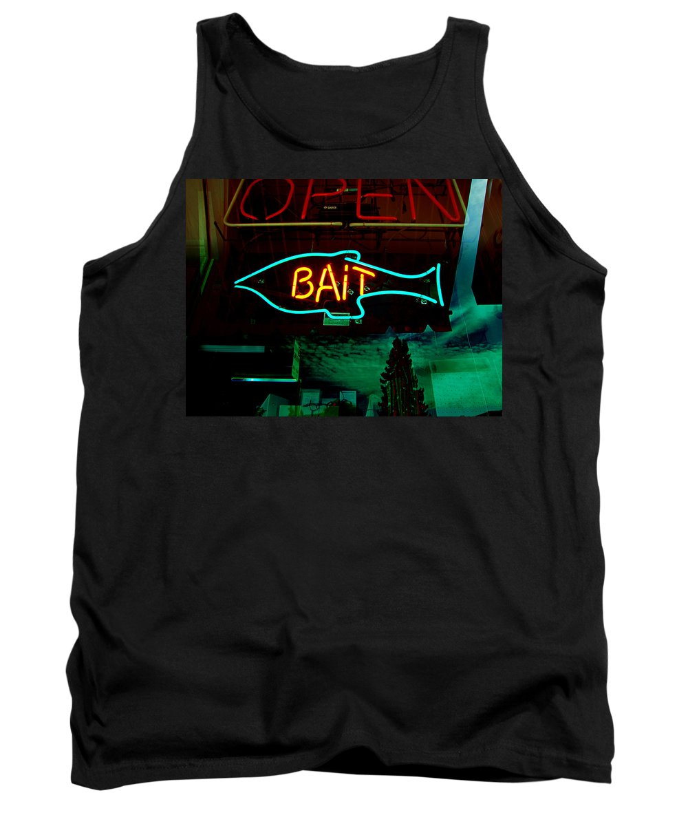 Store Sign Tank Top featuring the photograph Bait by Kathleen Grace