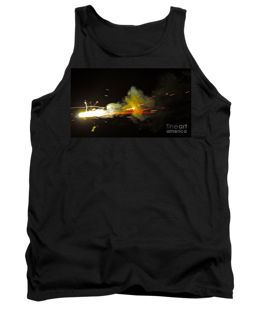 Fire Tank Top featuring the painting Bang by Xn Tyler