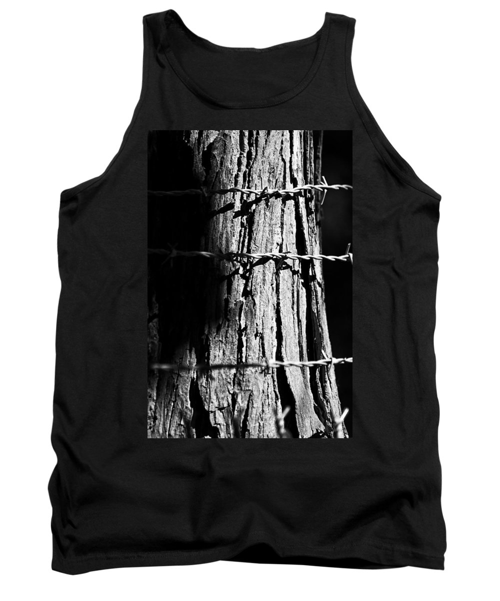 Fence Tank Top featuring the photograph Barbed by Lauri Novak
