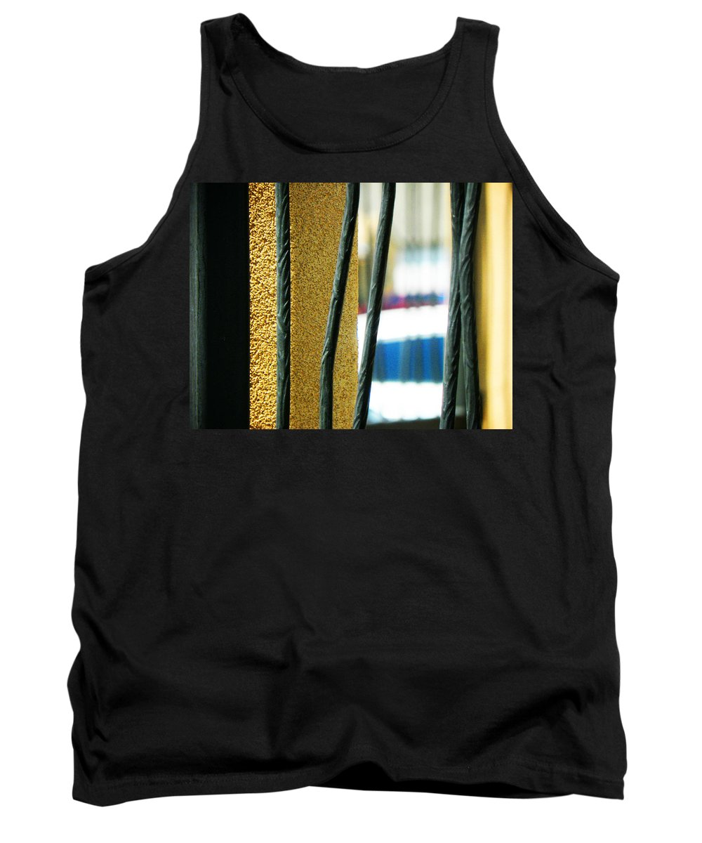 Abstract Tank Top featuring the photograph Bars by Lenore Senior