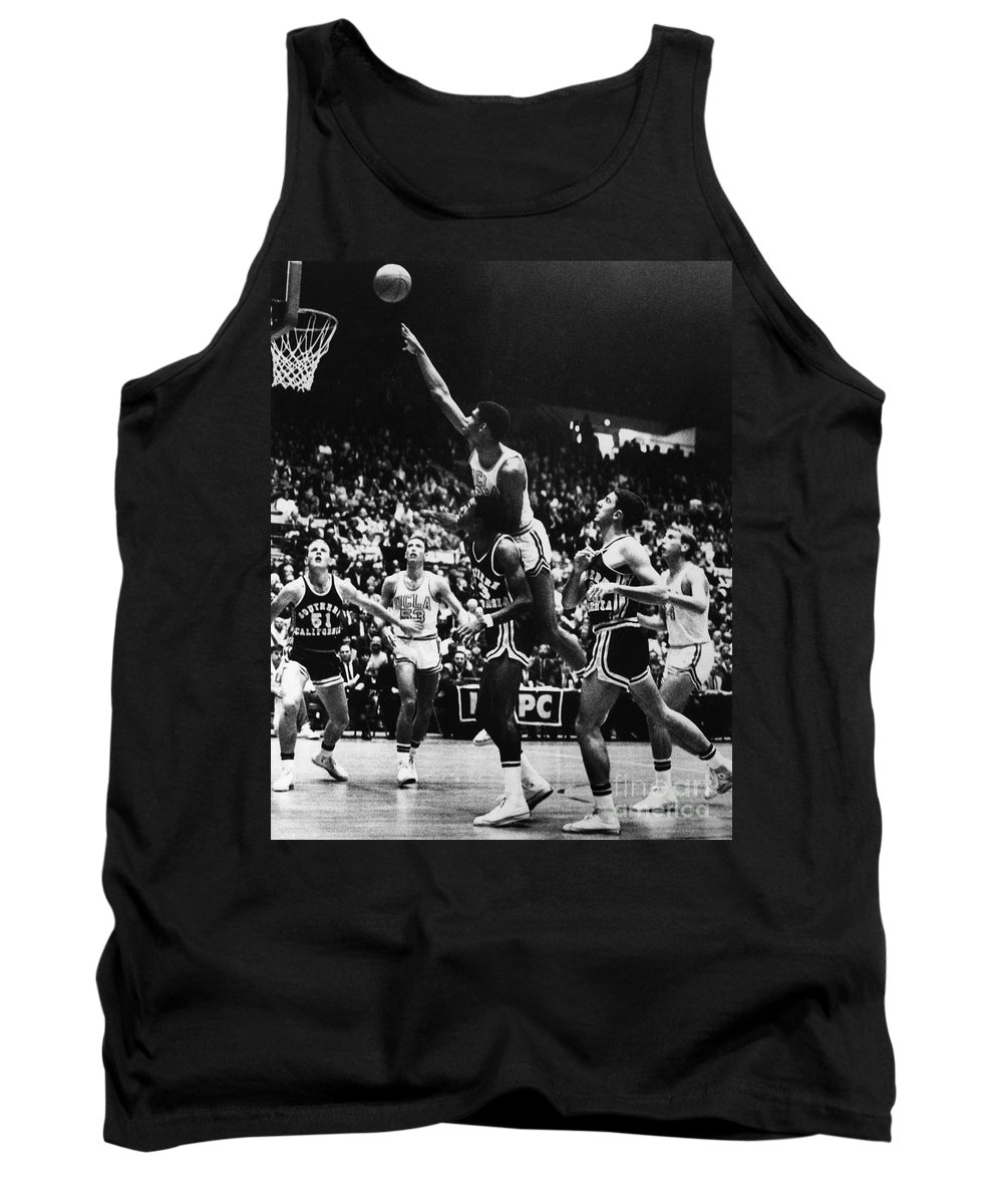 1966 Tank Top featuring the photograph Basketball Game, 1966 by Granger