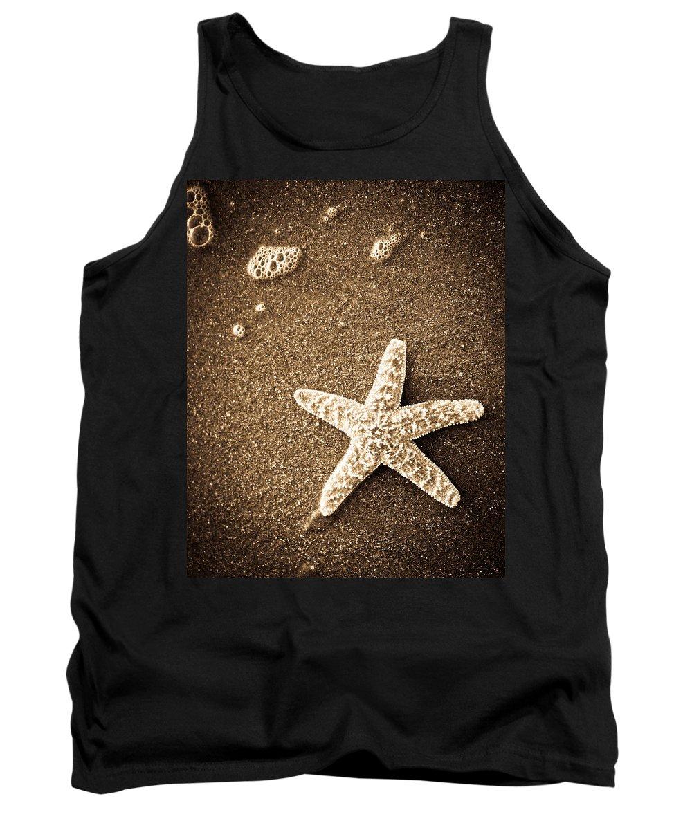 Star Fish Tank Top featuring the photograph Beach Star by Steve McKinzie