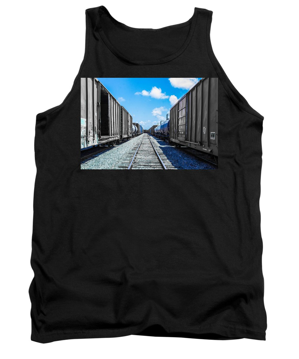 Tracks Tank Top featuring the photograph Between by Shannon Harrington