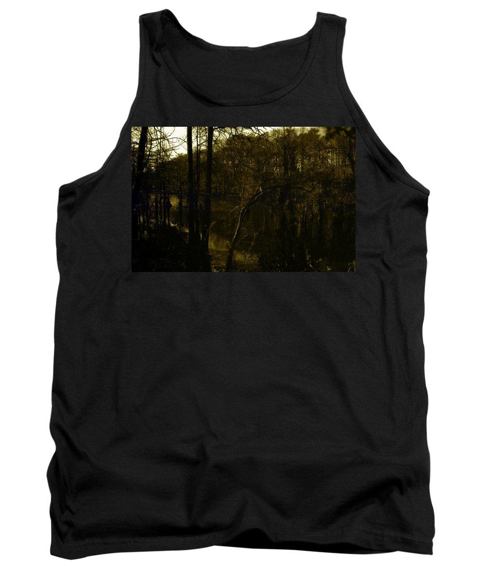 Louisiana Tank Top featuring the photograph Black Bayou 18 by Doug Duffey