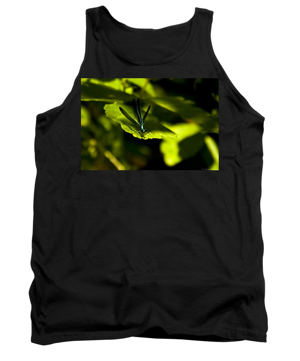 Dragonfly Photographs Tank Top featuring the photograph Blue Bedazzle by Crystal Heitzman Renskers
