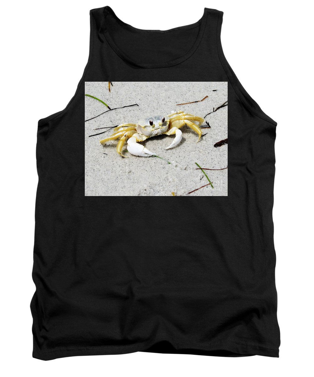 Florida Tank Top featuring the photograph Boca Grande Crab by Chris Andruskiewicz