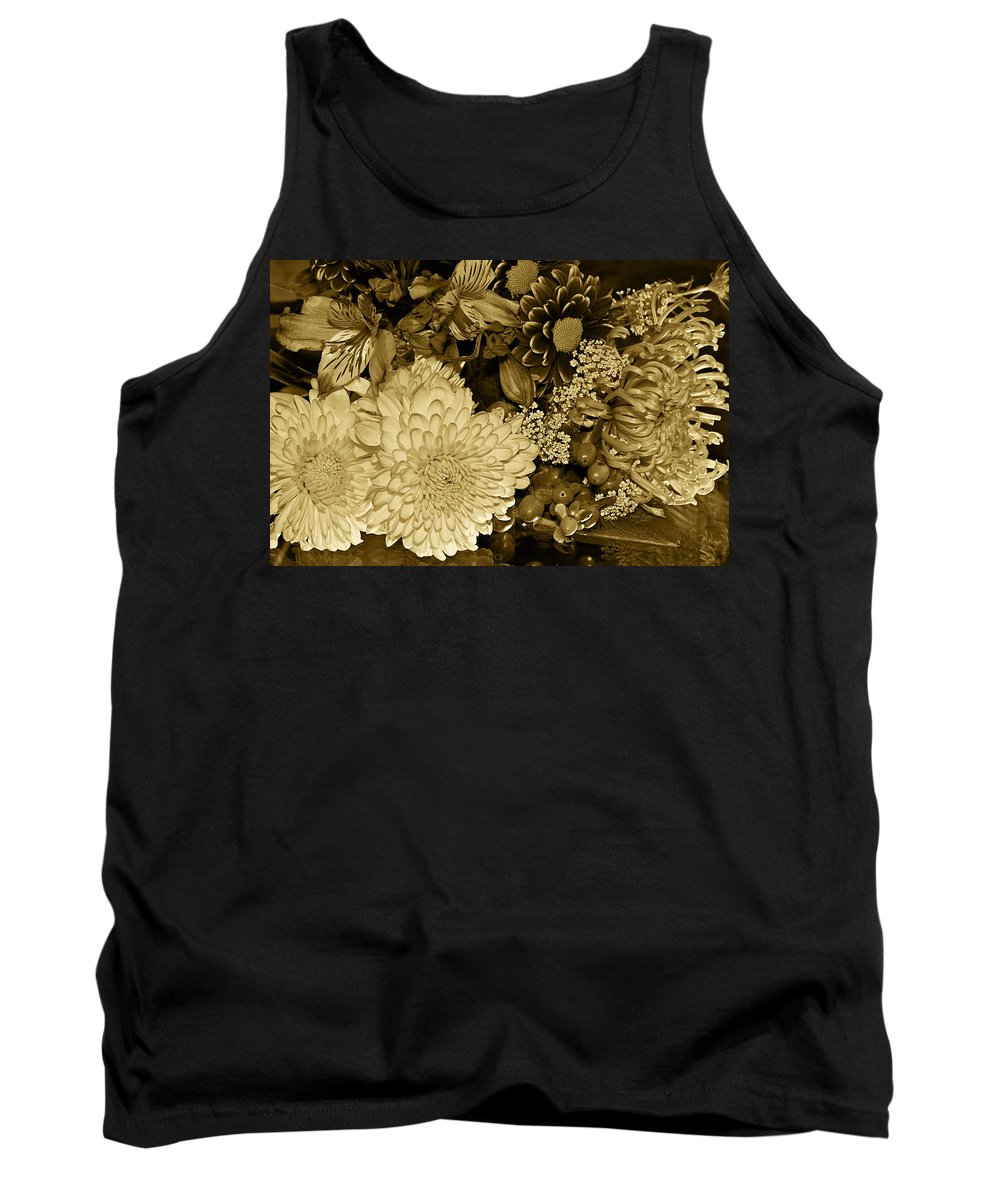 Flowers Tank Top featuring the photograph Bouquet In Sepia by Phyllis Denton