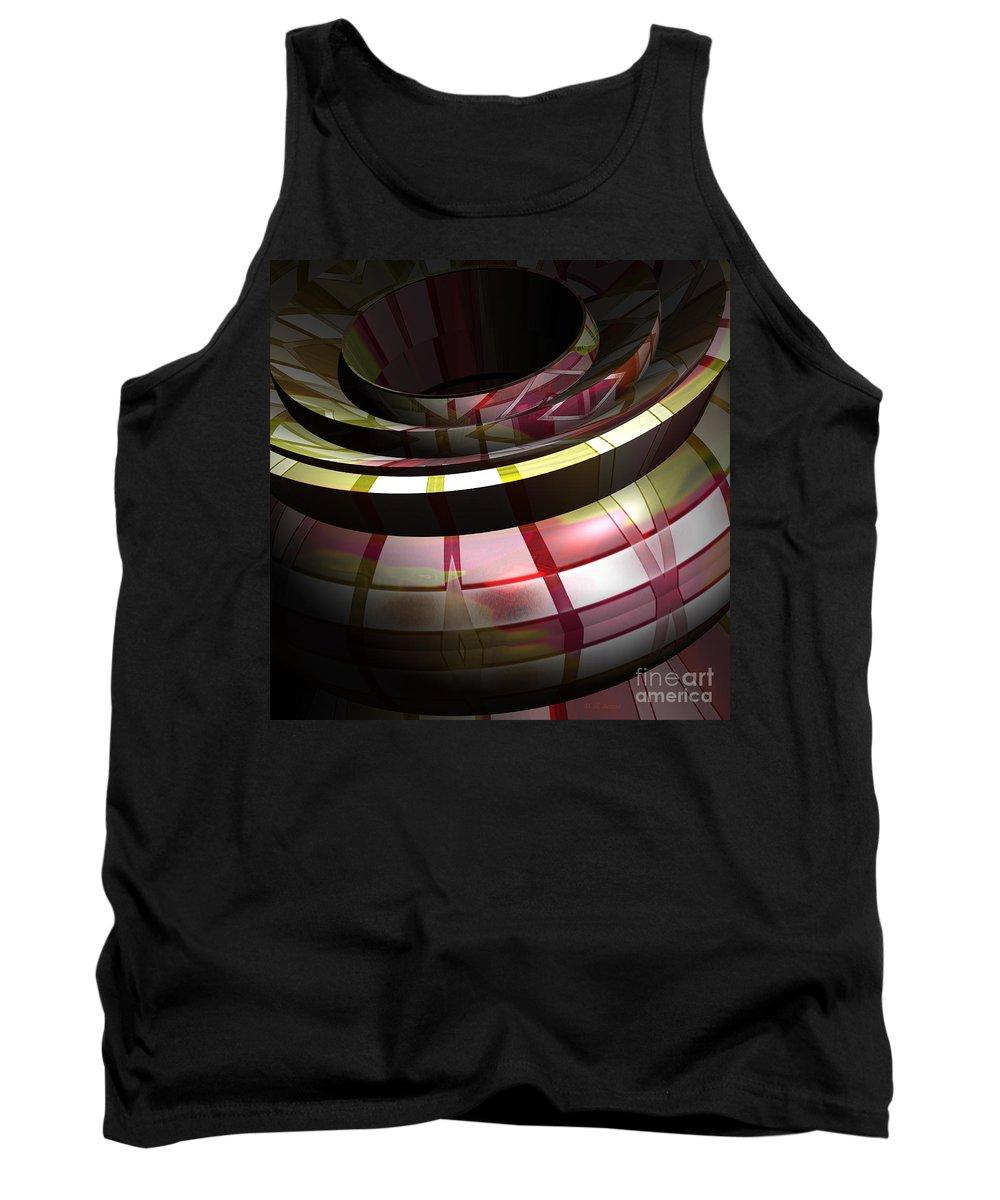 Digital Tank Top featuring the digital art Bowl 3 by Deborah Benoit